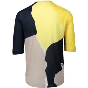 POC MTB Pure 3/4 Trikot Herren color splashes multi sulfur yellow